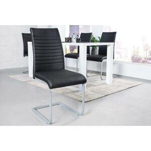 LuxD 21606 Konzolová stolička Douglas, čierna, chróm