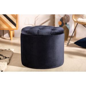 LuxD Dizajnová taburetka Aamira 50 cm tmavomodrá