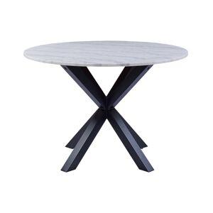 Dkton Okrúhly jedálenský stôl Neele 110 cm mramor