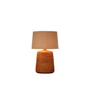 LuxD 24281 Ratanová stolná lampa Terrell 96 cm prírodná - béžová