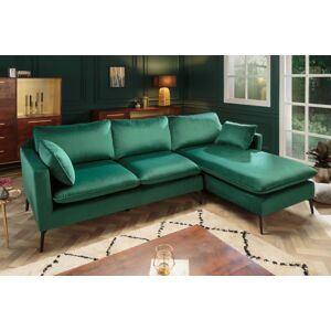 LuxD Rohová sedačka Lena 260 cm smaragdový zamat