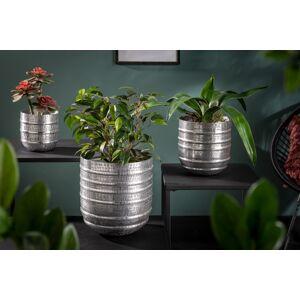 LuxD Sada dizajnových kvetináčov Malia strieborná