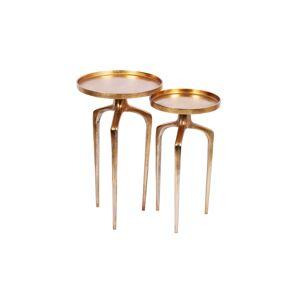 LuxD Set odkladacích stolíkov Pablo zlatý 2 ks
