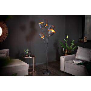 LuxD 22860 Stojanová lampa Shadow 178 cm čierna - zlatá Stojanové svietidlo