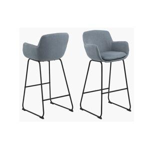 Dkton Štýlová barová stolička Alcide, modrá