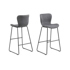 Dkton Štýlová barová stolička Alejo, tmavosivá