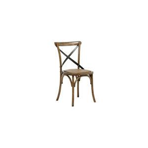 Dkton 23709 Štýlová jedálenská stolička Nikeesha, antická