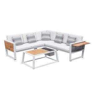 Higold Záhradná zostava HIGOLD - York Corner Lounge White/White Olefin